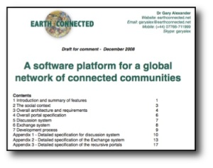 Software platform for a network of connected communities